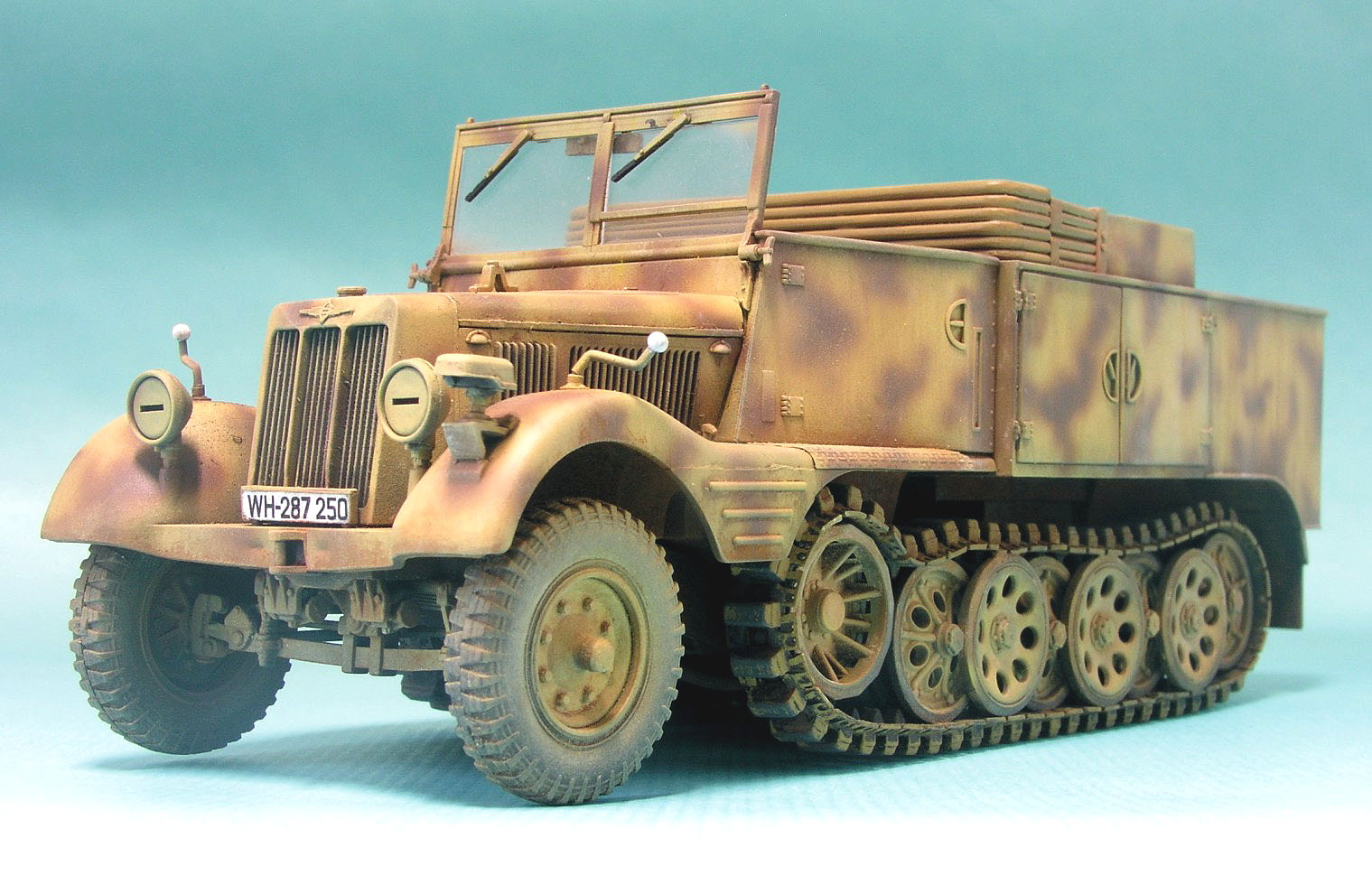72 sd kfz 11 german 3 ton half track 11th panzer div eastern front ...