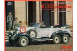 Benz typ G4 (1939 production), German Car with 3 axles and 3 figures