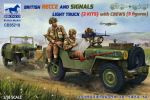 British Recce and signals light truck (2 kits) with 5 crew